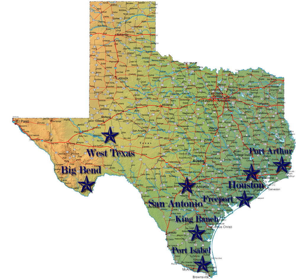 National Parks Texas Map My Blog - Texas national parks
